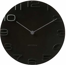 Karlsson, wall clock, Black, One Size