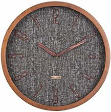 Karlsson, wall clock, Canvas, Black, One Size