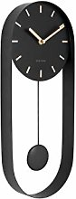 Karlsson Wall Clock - Charm Pendulum - Black