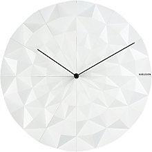 Karlsson Wall Clock Facet, White