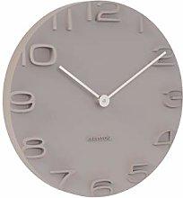 Karlsson, wall clock, Grey, One Size