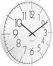 Karlsson, Wall clock, Metal, White, Extra Large