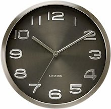 Karlsson, Wall clock, Steel, Black, 29cm