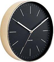 Karlsson, wall clock, Steel, Black, One Size