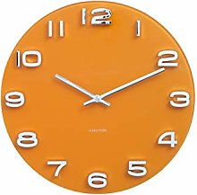 Karlsson, wall clock, Yellow, One Size
