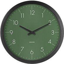 Karlsson Wall Clock, Zinc, Green, One Size