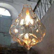 Karman 24 Karati hanging light, yellow leaf