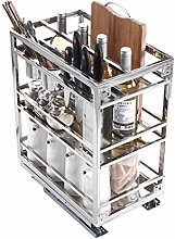 Karnih Slide Out Wire Storage Drawers, Stainless
