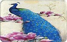KASMILN carpet bath mat,rug,balcony,Peacock With