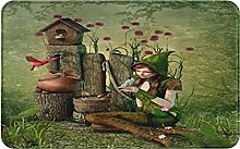 KASMILN carpet bath mat,rug,Girl Avian Birdhouse
