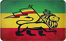 KASMILN carpet bath mat,rug,Judah Lion With A