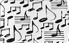 KASMILN carpet bath mat,rug,Kid With Music Notes