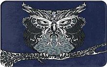 KASMILN carpet bath mat,rug,Owl With Vintage Style