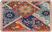 KASMILN carpet bath mat,rug,Patchwork Pattern With