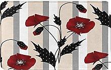 KASMILN carpet bath mat,rug,Patchwork With Flowers