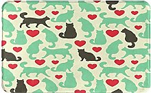 KASMILN carpet bath mat,rug,Pattern With Cats