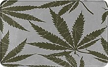 KASMILN carpet bath mat,rug,Pattern With Leaves Of