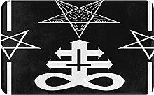 KASMILN carpet bath mat,rug,Pentagram With Demon
