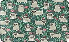 KASMILN carpet bath mat,rug,Pug Dogs With Various