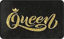 KASMILN carpet bath mat,rug,Queen Word With Crown.