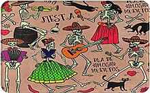 KASMILN carpet bath mat,rug,Red Dead With