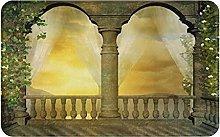 KASMILN carpet bath mat,rug,Romantic Balcony With