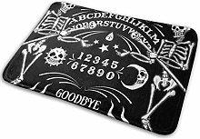 kasonj Skeleton Ouija Board Tattoo Indoor Doormat