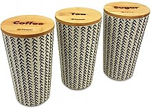 Kassel 935523Piece Canister Set, Bamboo Wood,