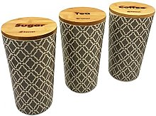 Kassel 935533Piece Canister Set, Bamboo Wood,
