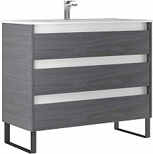 Kassia 100 cm Bathroom Vanity Cabinet + Ceramic