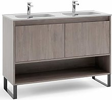Kassia 120 cm Bathroom Vanity Cabinet + double