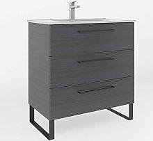 Kassia 80 cm Bathroom Vanity Cabinet + Ceramic