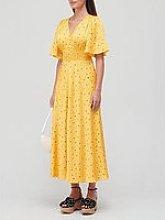 Kate Spade New York Garden Ditsy Satin Dress -
