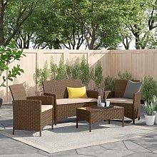 Kathy 4 Seater Rattan Corner Sofa Set Zipcode