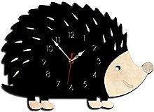 Katigan Hedgehog Wall Clock Wooden Animal Clocks