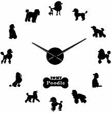 Katigan Poodle Big Hand Modern Wall Clock Poodle