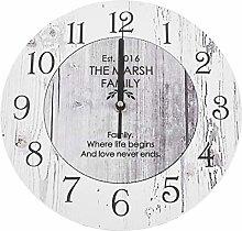Katigan Vintage Wall Clock Wooden Quartz Clock