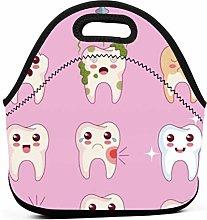 Kawaii Dentist Teeth Pink Waterproof Portable