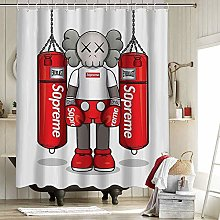 Kaws Fabric Shower Curtain 3D Printing Polyester