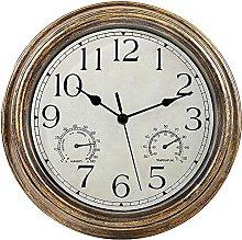 Kaxofang 12inch Wall Clock,Retro Waterproof Clock