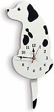 Kaxofang Acrylic Cartoon Dog Hanging Clock Cute