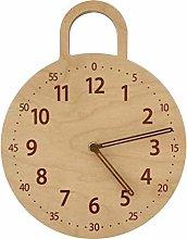 Kaxofang Children's Room Wall Clock Wooden