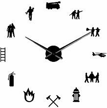 Kaxofang Firefighter Love Diy Wall Clock Fire