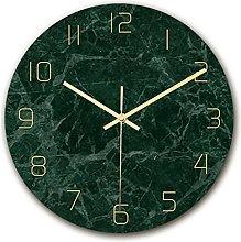 Kaxofang Tempered Glass Modern Wall Clock, Marble