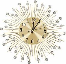 Kaxofang Wall Clock Diamonds Decorative Round