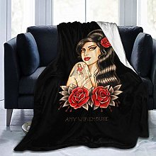 Kay Sam Amy Winehouse Flannel Fleece Blanket Super
