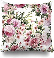 Kay Sam Cushion Cover Vintage Pink Flower Floral