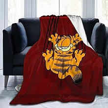 Kay Sam Garfield Cartoon Cat Throw Blankets