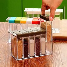 KAYBELE Transparent Spice Jar Set Salt and Pepper