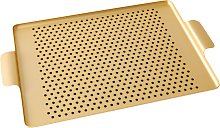 Kaymet Tray with Rubber Grips, 37cm, Gold